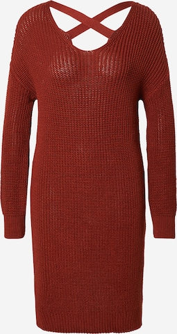 ABOUT YOU Knit dress 'Laurina' in Brown