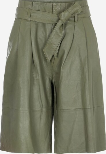OBJECT Pleat-Front Pants in Green, Item view