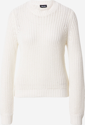 PIECES Pullover 'Petula' in weiß, Produktansicht