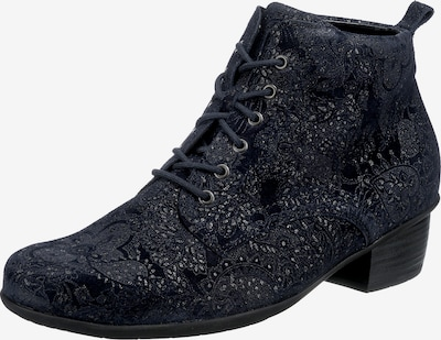 WALDLÄUFER Lace-Up Ankle Boots ' Haifi ' in Dark blue / Silver, Item view