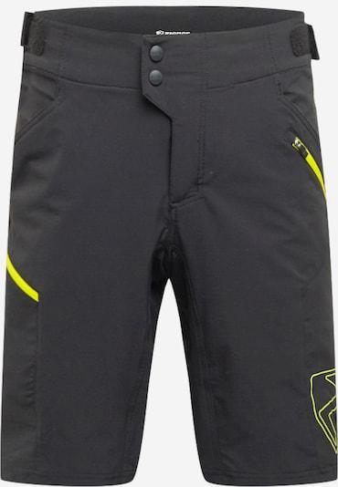 ZIENER Spodnie sportowe 'NEONUS' w kolorze neonowo-żółty / czarnym, Podgląd produktu