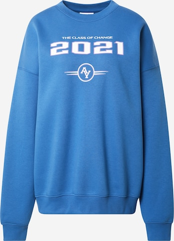 ABOUT YOU Limited Sweatshirt 'Nicky' i blå