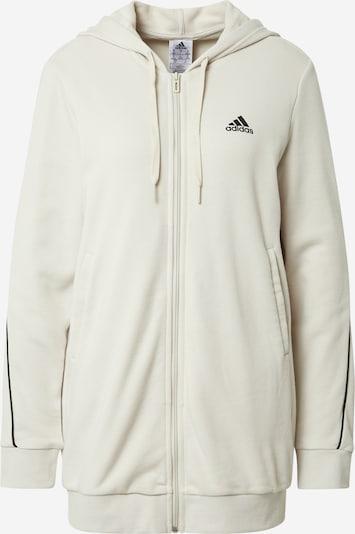 Bluză cu fermoar sport ADIDAS PERFORMANCE pe bej / negru, Vizualizare produs