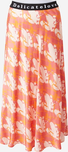 DELICATELOVE Skirt 'Sara' in Peach / Dark orange / Pastel red, Item view