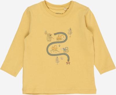 NAME IT Shirt 'DADIM' in rauchblau / dunkelgrau / orange / weiß, Produktansicht