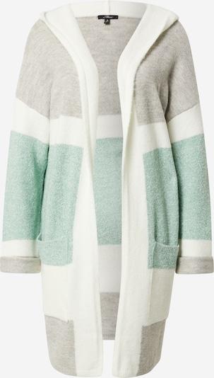 Mavi Cardigan in grau / grün / weiß, Produktansicht