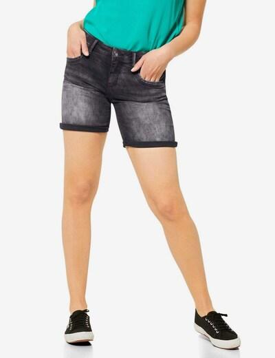 STREET ONE Shorts in black denim, Modelansicht