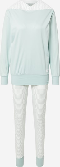 CALIDA Pyjama en menthe / blanc, Vue avec produit