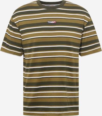 Tommy Jeans Bluser & t-shirts i khaki / mørkegrøn / hvid, Produktvisning