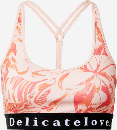 DELICATELOVE Sport-BH 'Shiva' in orange / rosa / dunkelpink, Produktansicht