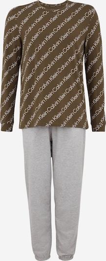 Calvin Klein Underwear Дълга пижама в светлосиво / сив меланж / Каки, Преглед на продукта
