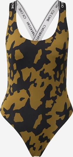 Maudymosi kostiumėlis iš Calvin Klein Swimwear, spalva – nakties mėlyna / rusvai žalia / balta, Prekių apžvalga
