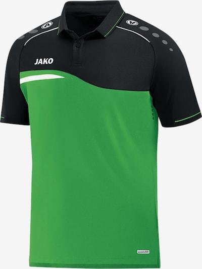 JAKO Poloshirt in grün / schwarz: Frontalansicht