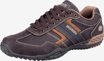 brūns Dockers by Gerli Sporta apavi ar šņorēm