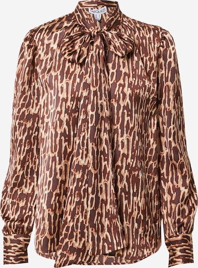Unique21 Blouse 'PUSSY BOW' in Beige / Brown, Item view