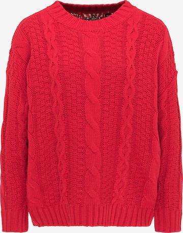 myMo ROCKS Oversized Sweater in Red