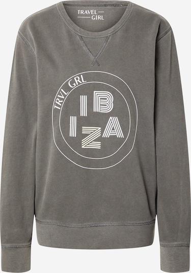 Travel Girl Sudadera 'Ibiza' en gris / blanco, Vista del producto