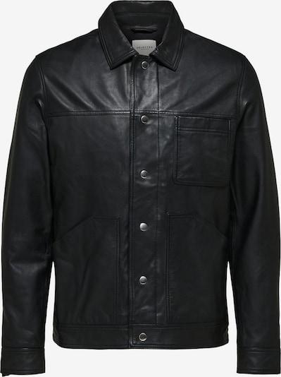 SELECTED HOMME Lederjacke in schwarz, Produktansicht