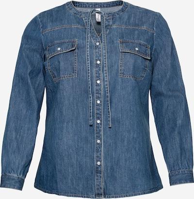 SHEEGO Jeansbluse in blue denim, Produktansicht