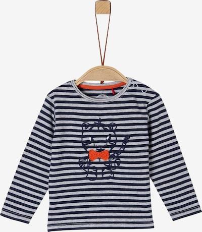 s.Oliver Shirt in marine / graumeliert / orange, Produktansicht
