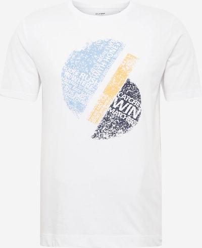 OLYMP Bluser & t-shirts i lyseblå / lysegul / grå / hvid, Produktvisning