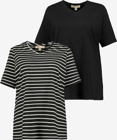 Ulla Popken Shirt in de kleur Zwart / Wit, Productweergave
