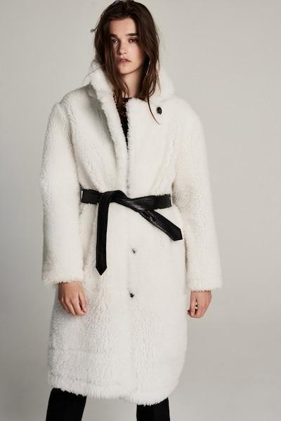 ZOE KARSSEN Wintermantel in schwarz / weiß, Modelansicht