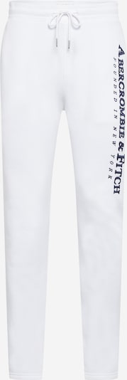 Abercrombie & Fitch Trousers in navy / white, Item view