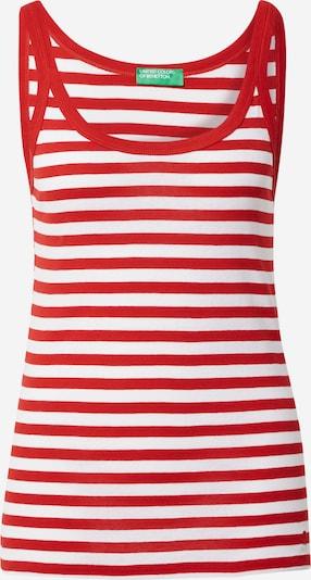 UNITED COLORS OF BENETTON Top en rojo / blanco, Vista del producto