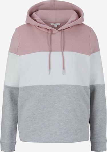 TOM TAILOR DENIM Sweatshirt in grau / pink / weiß, Produktansicht