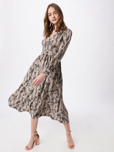 Neo Noir Kleid 'Lorina' in beige / schwarz, Modelansicht