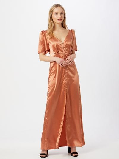 Rochie tip bluză Little Mistress pe roșu ruginiu, Vizualizare model