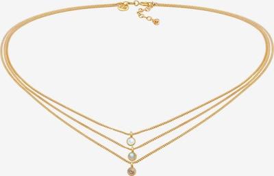 ELLI PREMIUM Halskette Choker, Edelsteinkette, Layer in gold, Produktansicht