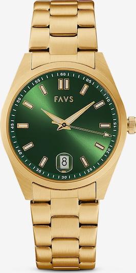 FAVS Uhr in gold / grün, Produktansicht