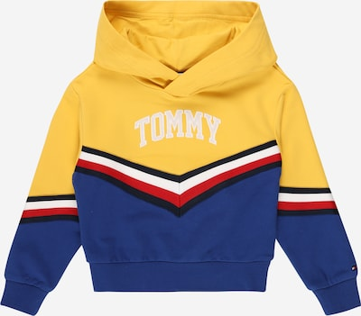 TOMMY HILFIGER Sweat-shirt en bleu nuit / bleu roi / safran / rouge / blanc, Vue avec produit
