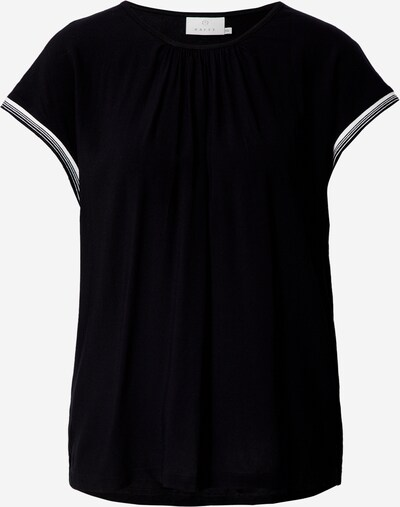 Kaffe T-shirt en noir / blanc, Vue avec produit