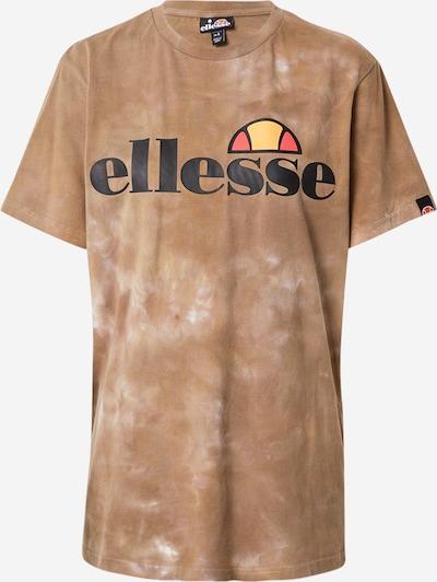 ELLESSE T-Shirt 'Albany' in braun / schwarz / weiß, Produktansicht