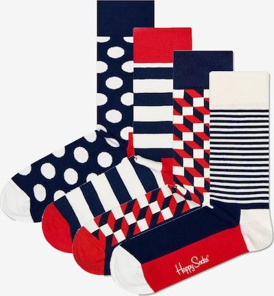 Calzino Happy Socks di colore navy / rosso pastello / nero / bianco lana, Visualizzazione prodotti