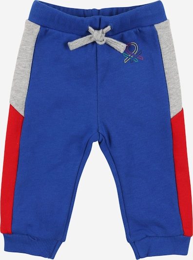 UNITED COLORS OF BENETTON Hose in blau / gelb / graumeliert / grün / rot, Produktansicht