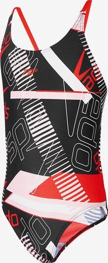 SPEEDO Badeanzug in rot / schwarz / weiß, Produktansicht