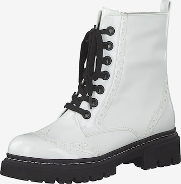 MARCO TOZZI Lace-Up Ankle Boots in White