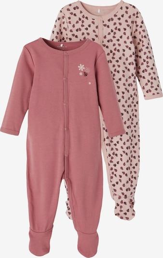 NAME IT Schlafanzug in rosa / rosé / rot / schwarz, Produktansicht