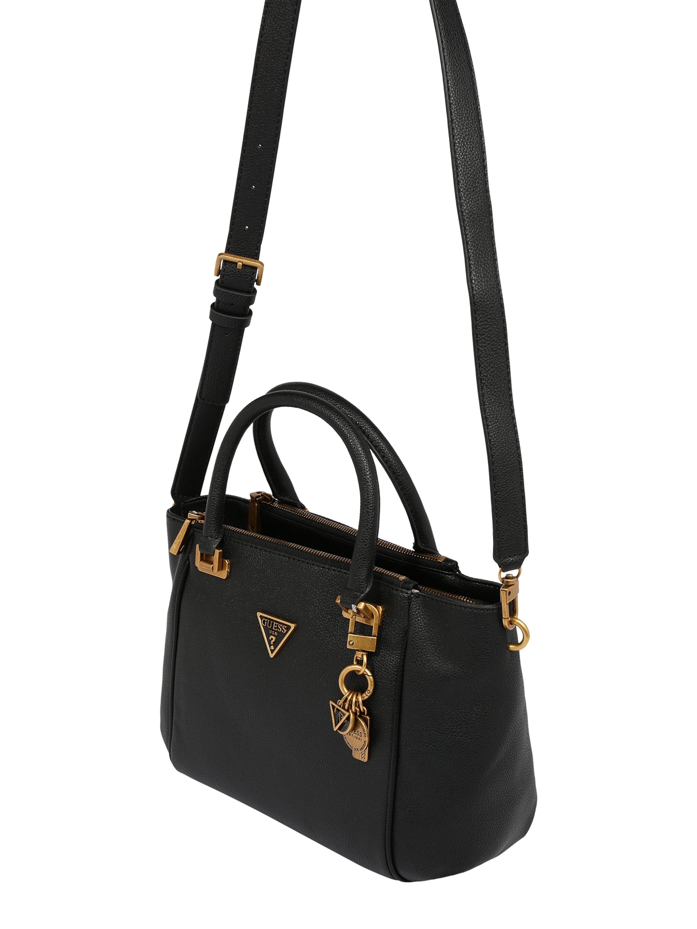 GUESS Handväska i guld / svart