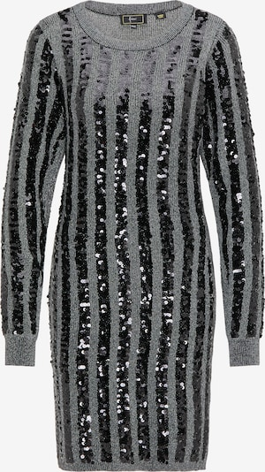 faina Pletena haljina u siva / crna, Pregled proizvoda