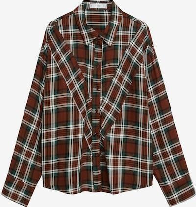 MANGO Bluzka 'Becky' w kolorze rdzawobrązowy / ciemnozielony / białym, Podgląd produktu
