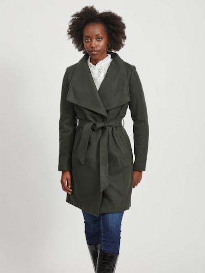 VILA Mantel in dunkelgrün, Modelansicht
