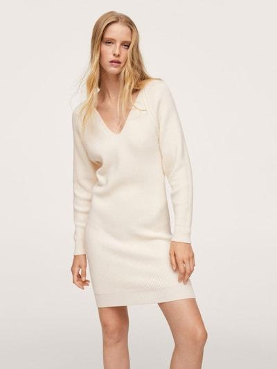 MANGO Pletené šaty 'KORINA' - nebielená, Model/-ka