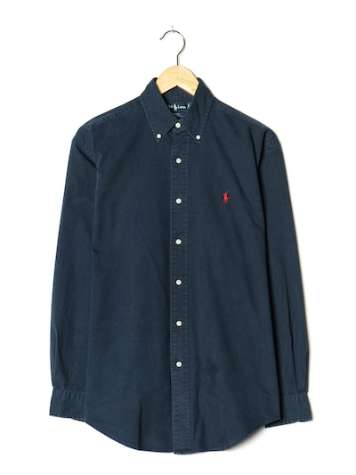 RALPH LAUREN Hemd in L-XL in dunkelblau, Produktansicht