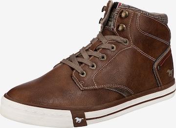MUSTANG High-Top Sneakers in Brown