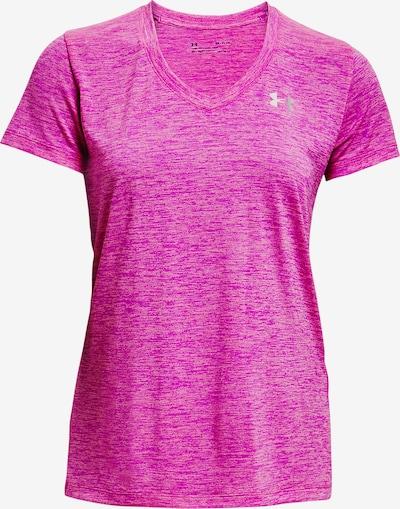 UNDER ARMOUR T-shirt fonctionnel en rose chiné / blanc, Vue avec produit